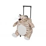 Cartera escolar color infantil mochila peluche con carrito tigre