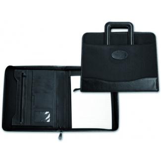 Cartera portadocumentos 35-921 negra 360x285 mm con asa sin anillas cremallera con departamentos interiores