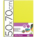 Liderpapel CN07 - Cartón ondulado, pliego de 50 x 70 cm, color amarillo