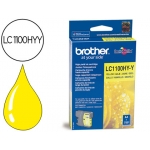 Cartucho Brother referencia LC-1100HYY amarillo