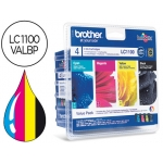 Cartucho Brother referencia LC-1100VALBP tricolor + negro