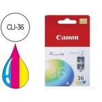 Cartucho Canon referencia 1511B001 Nº CLI-36 tricolor