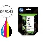 Cartucho HP 15+78 tricolor + negro referencia SA310AE