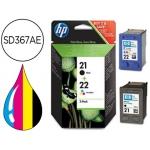 Cartucho HP 21+22 tricolor + negro referencia SD367AE
