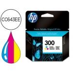 Cartucho HP 300 tricolor referencia CC643EE