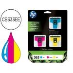 Cartucho HP 363 cian, magenta y amarillo referencia CB333EE Pack 3 -C877