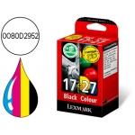 Cartucho Lexmark Nº17 + Nº27 referencia (0080D2952) tricolor + negro