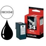 Cartucho Lexmark referencia 018C0034E Nº 34XL negro