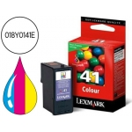 Cartucho Lexmark referencia 018Y0141E Nº 41 tricolor