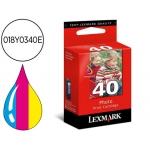 Cartucho Lexmark referencia 018Y0340E Nº 40 tricolor