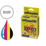 Cartucho Olivetti referencia B0261 tricolor+ negro