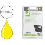 Cartucho de tinta Q-Connect compatible Brother LC-985Y amarillo dcp-j125/dcp-j315w mfc-j265w/mfc-j410/mfc-j415w