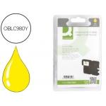 Cartucho de tinta Q-Connect compatible Brother LC980Y alta capacidad dcp145 dcp165 mfc250 mfc290 amarillo