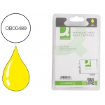 Cartucho de tinta Q-Connect compatible Epson stylus photo rx420 425 520 R240 amarillo