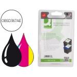 Cartucho de tinta Q-Connect compatible Hp n 21 + 22 negro color dj 3920 3940 D2360 2460 f300 350 380 2180 4100 4180