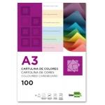 Cartulina Liderpapel tamaño A3 180 gr/m2 color negro paquete de 100