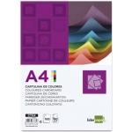 Cartulina Liderpapel tamaño A4 180 gr/m2 10 colores surtidos paquete de 100