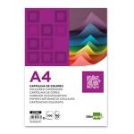 Cartulina Liderpapel tamaño A4 180 gr/m2 color lila paquete de 100