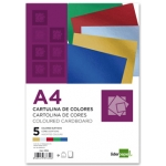 Cartulina Liderpapel tamaño A4 235 g/m2 metalizada 5 colores surtidos paquete de 50
