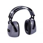 Casco antiruido deltaplus con orejeras ajustable en altura norma snr 33 db color gris-negro