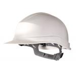Casco de protección deltaplus polietileno especial para obra y trabajos eléctricos de baja tension color blanco
