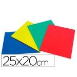 Caucho color plancha 25x20 cm bolsa de cuatro