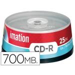 Cd-r Imation capacidad 700mb d uracion 80min velocidad 52x bote 25 unidades