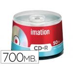 Cd-r Imation capacidad 700mb d uracion 80min velocidad 52x bote 50 unidades