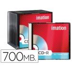 Cd-r Imation capacidad 700mb d uracion 80min velocidad 52x caja slim 1