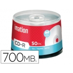 Cd-r Imation capacidad 700mb d uracion 80min velocidad 52x superficie imprimible color blanco bote 50 unidades