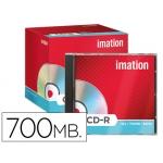 Cd-r Imation capacidad 700mb duración 80min velocidad 52x caja 1