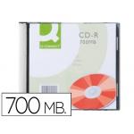 Cd-r Q-Connect capacidad 700mb duración 80min velocidad 52x caja slim 1