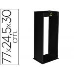 Cenicero metálico con rejilla para arena color negro 770x245x300 mm
