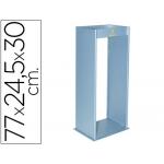 Cenicero metálico con rejilla para arena color plata 770x245x300 mm
