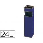 Cenicero papelera cuadrado 403 color azul metálico medida 65x18x18 cm