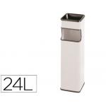 Cenicero papelera cuadrado 403 color blanco metálico medida 65x18x18 cm