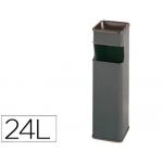 Cenicero papelera cuadrado 403 color gris metálico medida 65x18x18 cm