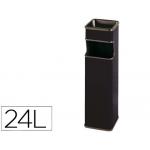 Cenicero papelera cuadrado 403 color negro metálico medida 65x18x18 cm