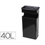 Cenicero papelera metálico 406 color negro medida 67x31x19 cm