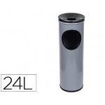 Cenicero papelera redondo 401 color gris metálico medida 66x21.5 cm