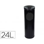 Cenicero papelera redondo 401 color negro metálico medida 66x21.5 cm