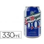 Cerveza san miguel 00 sin alcohol lata 330 ml