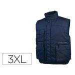 Chaleco Deltaplus multibolsillos con cremallera cintura elástica protege riñones color azul talla 3xl