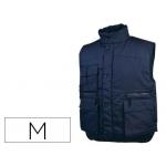 Chaleco Deltaplus multibolsillos con cremallera cintura elástica protege riñones color azul talla m