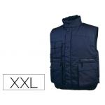 Chaleco Deltaplus multibolsillos con cremallera cintura elástica protege riñones color azul talla xxl
