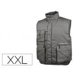 Chaleco Deltaplus multibolsillos con cremallera cintura elástica protege riñones color gris talla xxl
