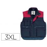 Chaleco deltaplus multibolsillo cintura elástica color azul talla xxxl