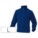 Chaqueta Deltaplus polar con cremallera 2 bolsillos color azul talla l