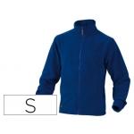 Chaqueta Deltaplus polar con cremallera 2 bolsillos color azul talla s