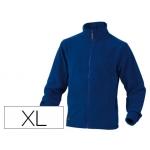 Chaqueta Deltaplus polar con cremallera 2 bolsillos color azul talla xl